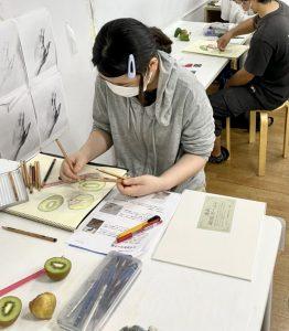 受験科日本画実習の取り組み